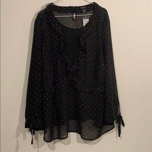 Torrid 3X sheer black blouse NWT